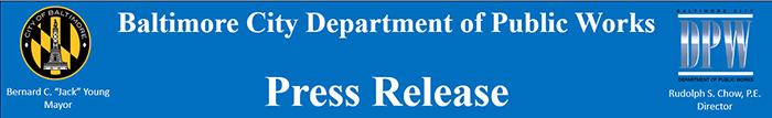 Dept. of Public Works press release header